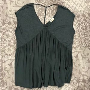 Anthropologie Olive Green Top